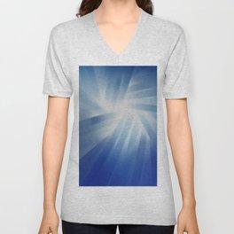 Blue Streaks of Light Unisex V-Neck