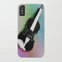 violin iPhone & iPod Cases featuring Violin by Christine baessler