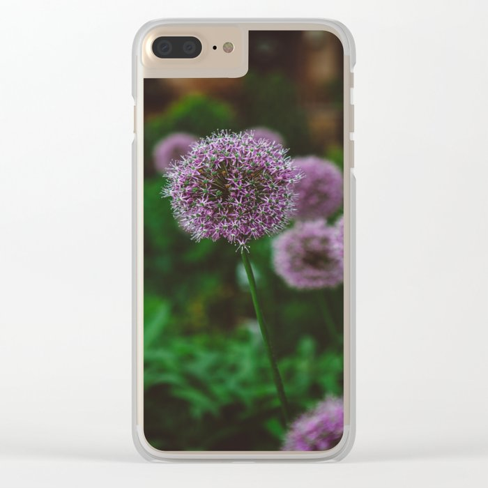 New York Alliums II Clear iPhone Case