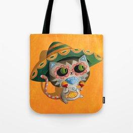 Cute Mexican Cat Tote Bag