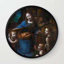 "Leonardo da Vinci ""The Virgin of the Rocks"" (London) Wall Clock"