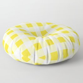Yellow and White Buffalo Check Floor Pillow