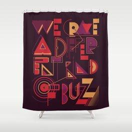 A Different Buzz Shower Curtain