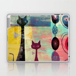 MidMod 2 Cats Graffiti Laptop & iPad Skin
