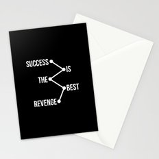 Success is the Best Revenge Light Stationery Cards