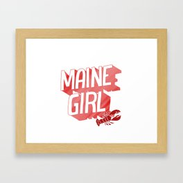 Maine Girl Framed Art Print