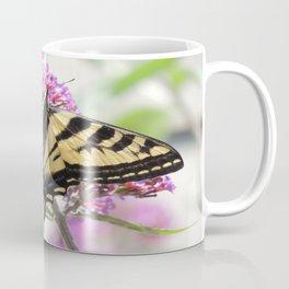 Western Tiger Swallowtail on the Neighbor's Butterfly Bush Coffee Mug