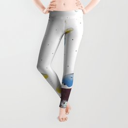 Geometric abstract free climbing bouldering holds pink yellow Leggings