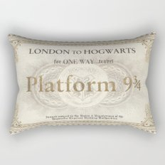 Platform 9 3/4 ticket Rectangular Pillow