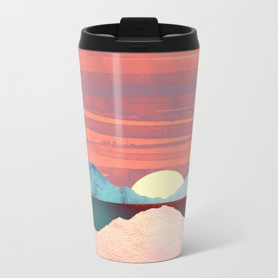 Pink Oasis Metal Travel Mug