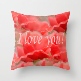 Love You! Red Poppies #decor #society6 Throw Pillow