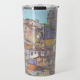 Santa Ingrácia church and Alfama rooftops, Lisbon Travel Mug
