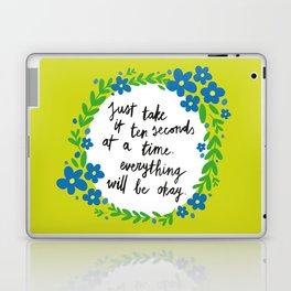 Ten Seconds - Lime Laptop & iPad Skin