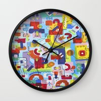 game Wall Clocks featuring Game by Tanja K