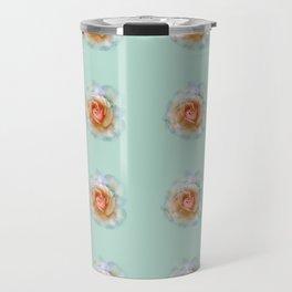 bed of roses: eau de nil wallpaper Travel Mug