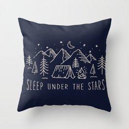 Sleep under the stars Throw Pillow