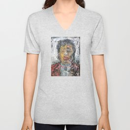 Liu Yiqian (oil on canvas) Unisex V-Neck