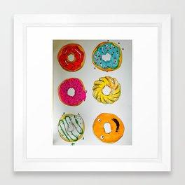 Donut Faces Framed Art Print