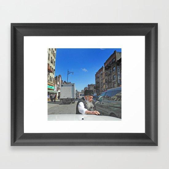 Rabbi Framed Art Print