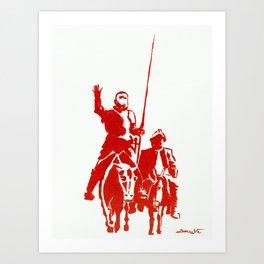 Don Quijote and Sancho Panza Art Print