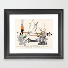 Diagram Of Female Feeding Of D-104 Engine Framed Art Print