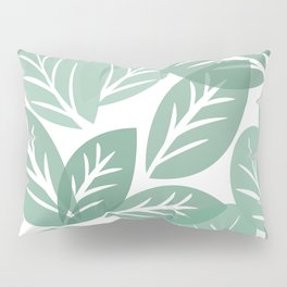 transparent multicolored green leaves Pillow Sham