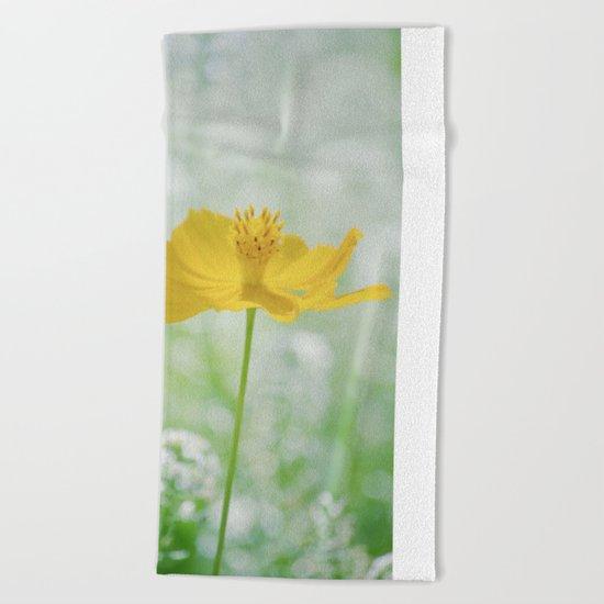 Yellow Bloom Beach Towel