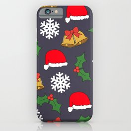 Jingle Bells Christmas Collage iPhone Case