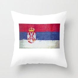 Serbia Flag design | Serbian Montenegrin design Throw Pillow
