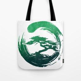 Green Bonsai in Enso Tote Bag