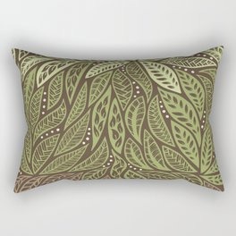 Polynesian Tribal Tattoo Shades Of Green Floral Design Rectangular Pillow