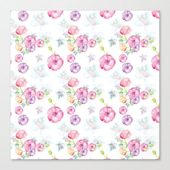 Delicate Floral Pattern 01 Canvas Print