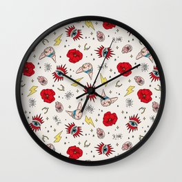 Ramona Good Luck off white Wall Clock