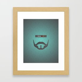 Sirius Black (Famous mustaches and beards) Framed Art Print