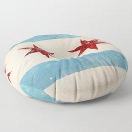 Chicago Flag Floor Pillow