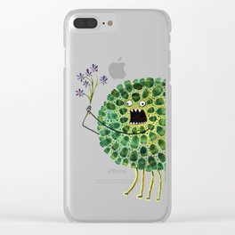 Poofy Plactus Clear iPhone Case