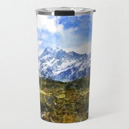 aoraki, mount cook, new zealand, alpine Travel Mug