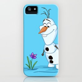 Olaf And The Flower iPhone Case