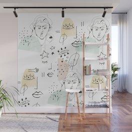minimal summer Wall Mural
