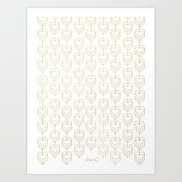 Heart Gala Pattern Art Print