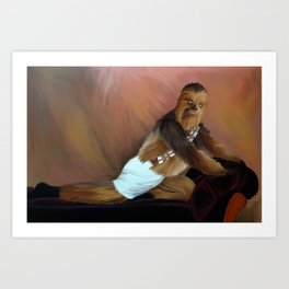 Chewbacca and the Timeless Art of Seduction Art Print