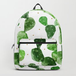 cactus watercolor pattern Backpack