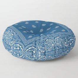 Bandana - Paisley - Southwestern - Classic Blue  Floor Pillow