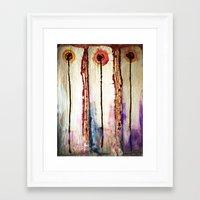 leah flores Framed Art Prints featuring Flores by Jose Luis