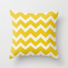 Crazy for Chevron - Mustard Throw Pillow