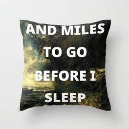 before i sleep Throw Pillow