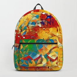6759s-KMA The Woman in the Stained Glass Sensual Feminine Energy Emerging Backpack