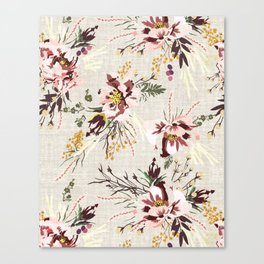 POPPY WILD LINEN Canvas Print