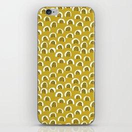 Sunny Melon love abstract brush paint strokes yellow ochre iPhone Skin