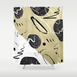 Gold Black White Abstract Glam #1 #trendy #decor #art #society6 Shower Curtain
